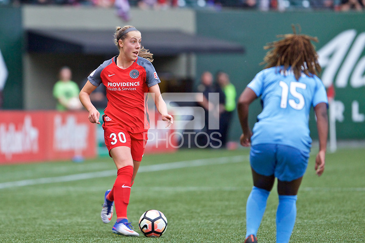 Portland, OR - Saturday June 17, 2017: Celeste Boureille during a regular season National Women's Soccer League (NWSL) match between the Portland Thorns FC and Sky Blue FC at Providence Park.