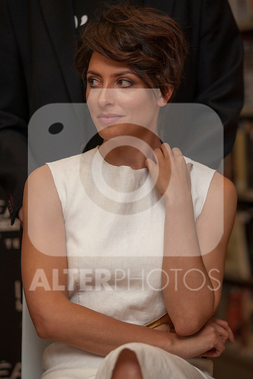 Spanish actress Barbara Lennie pose for photographers during a presentation for a sponsor of the Goya Awards with hairdressers and Makeup artist at Academia de Cinema in Madrid January 14, 2015, Spain. (ALTERPHOTOS / Nacho Lopez)