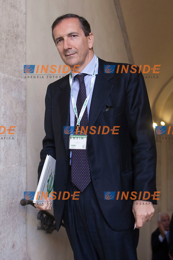 Luigi Gubitosi<br /> Roma 31-10-2014 Palazzo della Cancelleria. 90&deg; Giornata Mondiale del Risparmio organizzata dall'Acri.<br /> World Saving Day<br /> Photo Samantha Zucchi Insidefoto