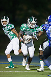 Jahia Mahatha (7) of the A.L. Brown Wonders looks for running room during second half action against the Mooresville Blue Devils at Coach Joe Popp Stadium on September 9, 2016, in Mooresville, North Carolina.  The Blue Devils defeated the Wonders 23-21.  (Brian Westerholt/Special to the Tribune)