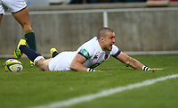 Mike Brown of England going over for a try during the 2018 Castle Lager Incoming Series 2nd Test match between South Africa and England at the Toyota Stadium.Bloemfontein,South Africa. 16,06,2018 Photo by Steve Haag / stevehaagsports.com