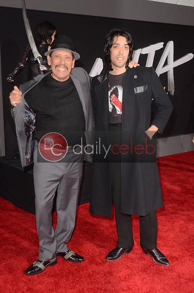 "Danny Trejo, Gilbert Trejo<br /> at the ""Alita Battle Angel"" Premiere, Village Theater, Westwood, CA 02-05-19<br /> David Edwards/DailyCeleb.com 818-249-4998"