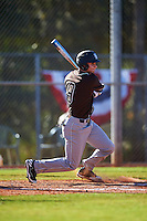 St. Bonaventure Bonnies Sam Fuller (9) at bat during a game against the Dartmouth Big Green on February 25, 2017 at North Charlotte Regional Park in Port Charlotte, Florida.  St. Bonaventure defeated Dartmouth 8-7.  (Mike Janes/Four Seam Images)