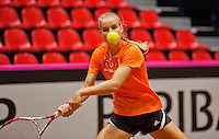 April 15, 2015, Netherlands, Den Bosch, Maaspoort, Fedcup Netherlands-Australia, Training session Dutch team, Arantxa Rus <br /> Photo: Tennisimages/Henk Koster