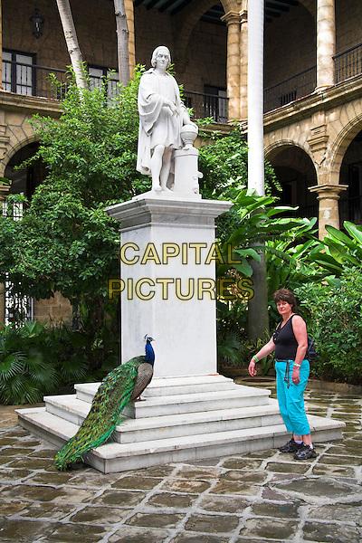Christopher Columbus statue, Museo de la Ciudad, Palacio de los Capitanes Generales, Havana, La Habana Vieja, Cuba