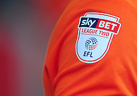 The Sky Bet League Two sleeve badge <br /> <br /> Photographer Kevin Barnes/CameraSport<br /> <br /> Football - The EFL Sky Bet League Two - Blackpool v Exeter City - Saturday 6th August 2016 - Bloomfield Road - Blackpool<br /> <br /> World Copyright © 2016 CameraSport. All rights reserved. 43 Linden Ave. Countesthorpe. Leicester. England. LE8 5PG - Tel: +44 (0) 116 277 4147 - admin@camerasport.com - www.camerasport.com