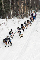 Diana Moroney w/Iditarider on Trail 2005 Iditarod Ceremonial Start near Campbell Airstrip Alaska SC