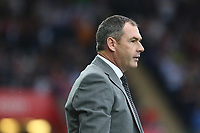 Swansea City manager Paul Clement during the Premier League match between Swansea City and Huddersfield Town at The Liberty Stadium, Swansea, Wales, UK. Saturday 16 October 2017
