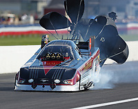 Sep 2, 2018; Clermont, IN, USA; NHRA funny car driver Jonnie Lindberg during qualifying for the US Nationals at Lucas Oil Raceway. Mandatory Credit: Mark J. Rebilas-USA TODAY Sports