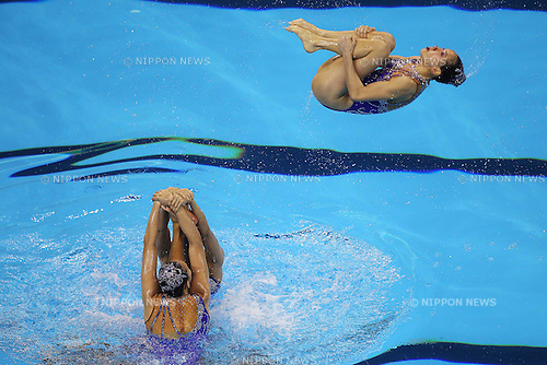 China National Team Group (CHN), ..July 23, 2011 - Synchronised Swimming : ..14th FINA World Championships Shanghai 2011, Team Free Routine Final ..at Oriental Sports Center Indoor Stadium, Shanghai, China. ..(Photo by Daiju Kitamura/AFLO SPORT) [1045]