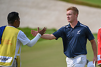 Charlie HILLIER (NZL) shakes hands following Rd 1 of the Asia-Pacific Amateur Championship, Sentosa Golf Club, Singapore. 10/4/2018.<br /> Picture: Golffile | Ken Murray<br /> <br /> <br /> All photo usage must carry mandatory copyright credit (&copy; Golffile | Ken Murray)