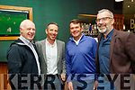Having fun at the Tralee Golf Club dinner last Saturday in the Ballyroe Heights Hotel, Tralee were L-R Michael Halloran, Michael Leahy, Pat Stack and peter Nolan.