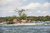Xingu River, Para State, Brazil. Beginning of the rapids.