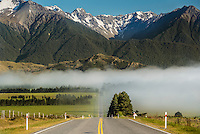 SH73 The Great Alpine Highway, Canterbury, South Island, New Zealand - stock photo, canvas, fine art print