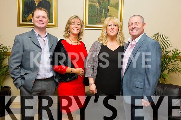 Shane Ronan, Anna Keane, Eileen Ronan and Berni Keaneenjoying the Kerins O Rahillys Social at Kerins O Rahillys GAA Clubhouse on Saturday