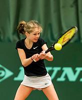 Wateringen, The Netherlands, March 9, 2018,  De Reijenhof , NOJK 12/16 years, Emily Schut (NED)<br /> Photo: www.tennisimages.com/Henk Koster