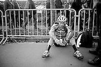 Julien Taramarcaz (SUI/Corendon-Stannah) post-race<br /> <br /> Jaarmarktcross Niel 2014