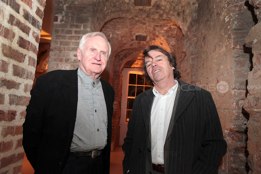 27/1/11 John Boorman and Neil Jordan at the 30th Anniversary of Excalibur, raising funds for the launch of the the Warrior Programme Ireland at the Pwerscourt House, Enniskerry, Co Wicklow. Picture: Arthur Carron/Collins