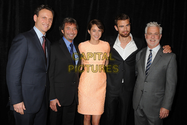 28 February 2014 - Beverly Hills, California - Tony Goldwyn, Patrick Wachsberger, Shailene Woodley, Theo James, Rob Friedman. 51st Annual Publicists Awards Luncheon held at the Beverly Wilshire Hotel. <br /> CAP/ADM/BP<br /> &copy;Byron Purvis/AdMedia/Capital Pictures