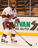 Alexander Kerfoot (Harvard - 14) - The Harvard University Crimson defeated the Northeastern University Huskies 4-3 in the opening game of the 2017 Beanpot on Monday, February 6, 2017, at TD Garden in Boston, Massachusetts.