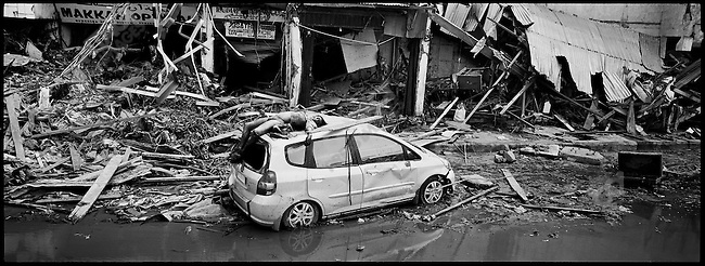 Devastation in Banda Aceh,the aera hardest hit by the Tsunami  of December 26th of 2004. Banda Aceh, Sumatra, Indonesia, January 2005.