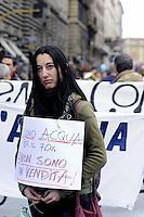 Roma, 20 Marzo 2010.Manifestazione nazionale contro la privatizzazione dell'acqua
