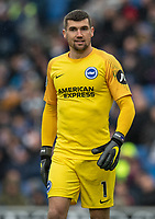 Brighton & Hove Albion's Matthew Ryan <br /> <br /> Photographer David Horton/CameraSport<br /> <br /> The Premier League - Brighton and Hove Albion v Bournemouth - Saturday 13th April 2019 - The Amex Stadium - Brighton<br /> <br /> World Copyright © 2019 CameraSport. All rights reserved. 43 Linden Ave. Countesthorpe. Leicester. England. LE8 5PG - Tel: +44 (0) 116 277 4147 - admin@camerasport.com - www.camerasport.com