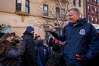 NEW YORK - JANUARY 06: Mayor of New York , Bill de Blasio greets people during the Three Kings Day Parade in East Harlem January 6, 2017 in New York City. The parade celebrates the Feast of the Epiphany, also known as Three Kings Day, marking the Biblical story of the visit of three kings to Bethlehem to visit the baby Jesus, revealing his divinity. Photo by VIEWpress/Maite H. Mateo