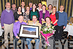 John Quill, Killarney, pictured with Michael Brosnan, Yvonne Quill, Tadgh O'Donoghue, Donal Foley, Joan Lynch, John Moriarty, Sheila Sheahan, Donal Kelleher, Ruth Davitt, Joe Murphy, Mary Flynn, Noel Crowley, Martha Foley and Tom Murphy ahead of his retirement on the 29th February, from FAS after 39 years service, in the Royal Hotel, Killarney on Friday night.