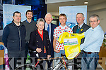 Saddle up<br /> --------------<br /> pictured in the Kerry Group head offices in Tralee last Friday afternoon, for the official launch of this years Ras Mumhan, which takes place on Easter weekend next, based in Killorglin, were L-R Rory McGillicuddy, Killorglin cycle club, Padraig Mallon, Kerry Group, Mary Colcannon, race secretary, Frank Hayes, director of corporate affairs, Kerry group, Denis Dunworth, Moda Kingdom endurance sports, Tadhg Moriarty, press officered Dan Ahern, event safety officer.