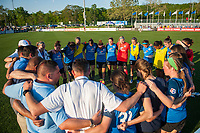 Kansas City, MO - Sunday May 07, 2017: FC Kansas City  after a regular season National Women's Soccer League (NWSL) match between FC Kansas City and the Orlando Pride at Children's Mercy Victory Field.