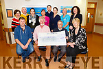 Central Hotel Clifton held a hair and beard cut fundraiser  presentation a Cheque €10,000 to the Kerry Hospice Foundation on Monday. Pictured front l-r John Burke, Shamus Burke, Ted Moynihan, Mairead Fernane. Back l-r  Mary Shanahan, Paul Nee, Paul Thomas Nee, Siofra Nee, Linda O'Connor, Marie O'Connell, Aileen Clifford and Laura Collins