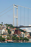 Ataturk Bridge over the Bosporus Sea, Istanbul, Turkey