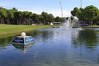 18th hole during Wednesday's Pro-Am of the 2018 Turkish Airlines Open hosted by Regnum Carya Golf &amp; Spa Resort, Antalya, Turkey. 31st October 2018.<br /> Picture: Eoin Clarke | Golffile<br /> <br /> <br /> All photos usage must carry mandatory copyright credit (&copy; Golffile | Eoin Clarke)