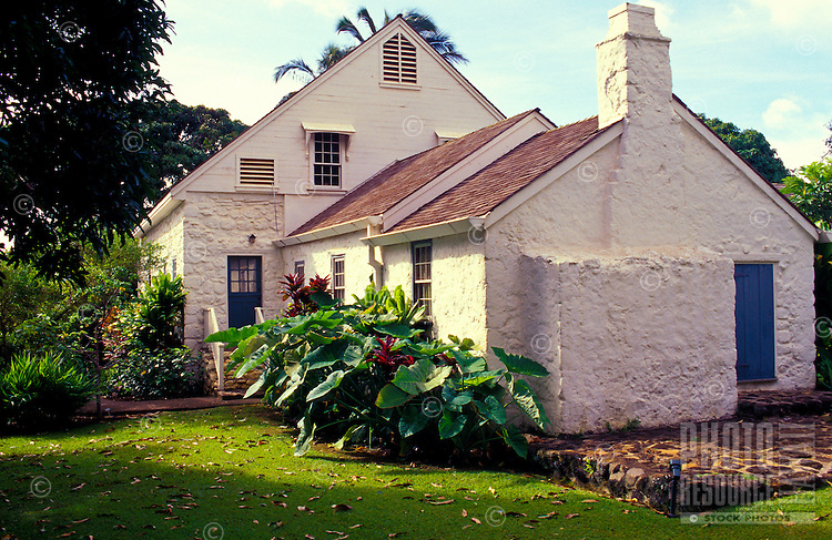 Bailey House Museum, an historical mission house with Hawaiiana and art and craft demonstrations, Wailuku, Maui