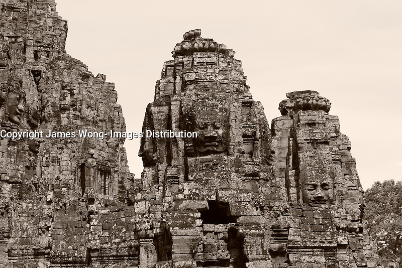 Angkor, Cambodia - 2007 File Photo -<br /> <br /> Angkor Wat<br /> <br /> Angkor Vat) is a temple at Angkor, Cambodia, built for King Suryavarman II in the early 12th century as his state temple and capital city. The largest and best-preserved temple at the site, it is the only one to have remained a significant religious centre since its foundation&mdash;first Hindu, dedicated to Vishnu, then Buddhist. The temple is the epitome of the high classical style of Khmer architecture. It has become a symbol of Cambodia, appearing on its national flag, and it is the country's prime attraction for visitors.<br /> <br /> photo : James Wong-  Images Distribution