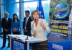 Belgium, Brussels - June 10, 2014; <br /> 'UN Conference on Small Island Developing States - what role for the EU?' -- Presentations and Networking in the EP with i.a. Connie Hedegaard (EU-Commissioner for Climate Action; Fatumanava Pa'olelei Luteru (Ambassador Samoa to the EU); MEP Hiltrud Breyer; moderated by Frank Schwalba-Hoth -- Photo © HorstWagner.eu