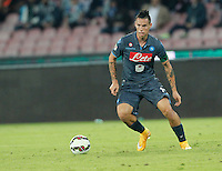 Marek Hamsik    in action during the Italian Serie A soccer match between SSC Napoli and Verona  at San Paolo stadium in Naples, October 26, 2014