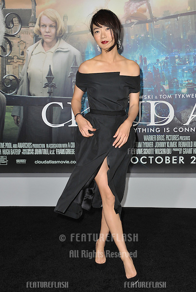 "Doona Bae at the Los Angeles premiere of her new movie ""Cloud Atlas"" at Grauman's Chinese Theatre, Hollywood..October 24, 2012  Los Angeles, CA.Picture: Paul Smith / Featureflash"