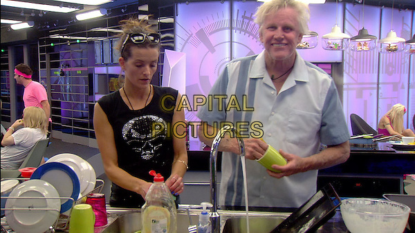Edele Lynch, Gary Busey<br /> in Celebrity Big Brother - Summer 2014 (Day 11)<br /> *Editorial Use Only*<br /> CAP/NFS<br /> Image supplied by Capital Pictures