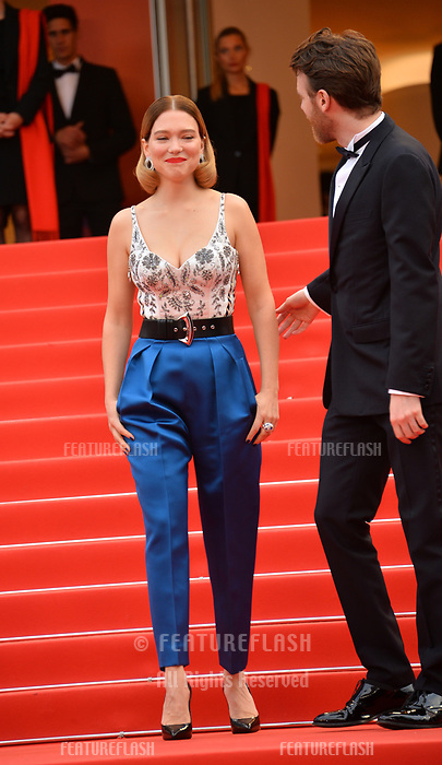 "CANNES, FRANCE. May 22, 2019: Lea Seydoux & Antoine Reinartz at the gala premiere for ""Oh Mercy!"" at the Festival de Cannes.<br /> Picture: Paul Smith / Featureflash"