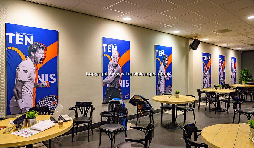 Den Bosch, The Netherlands, Februari 07 2019,  Maaspoort , FedCup  Netherlands - Canada, sinage<br /> Photo: Tennisimages/Henk Koster