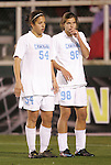 05 December 2008: North Carolina's Casey Nogueira (54) and Tobin Heath (98). The University of North Carolina Tar Heels defeated the University of California Los Angeles Bruins 1-0 at WakeMed Soccer Park in Cary, NC in an NCAA Division I Women's College Cup semifinal game.