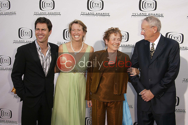 Eric McCormack with wife Janet and her family