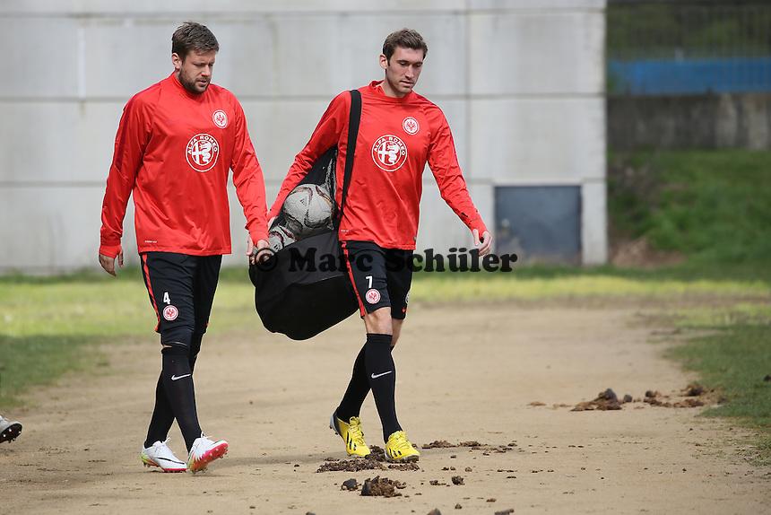Marco Russ und Stefan Reinartz - Eintracht Frankfurt Training, Commerzbank Arena