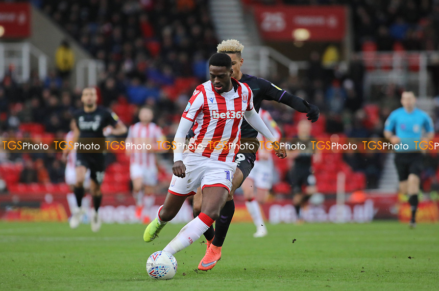 Bruno Martins Indi of Stoke City and Lyle Taylor of Charlton<br /> during Stoke City vs Charlton Athletic, Sky Bet EFL Championship Football at the bet365 Stadium on 8th February 2020