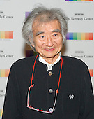 Conductor Seiji Ozawa arrives for the formal Artist's Dinner honoring the recipients of the 38th Annual Kennedy Center Honors hosted by United States Secretary of State John F. Kerry at the U.S. Department of State in Washington, D.C. on Saturday, December 5, 2015. The 2015 honorees are: singer-songwriter Carole King, filmmaker George Lucas, actress and singer Rita Moreno, conductor Seiji Ozawa, and actress and Broadway star Cicely Tyson.<br /> Credit: Ron Sachs / Pool via CNP