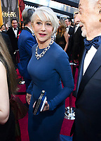 Helen Mirren arrives at the Oscars on Sunday, March 4, 2018, at the Dolby Theatre in Los Angeles. (Photo by Charles Sykes/Invision/AP)