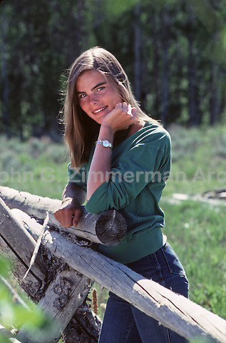 Portrait of Mariel Hemingway, Ketchum Idaho, 1979.