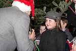 Erin Brown chatting to Ray Shah at the switching on of the Christmas lights on West Street, last Friday.